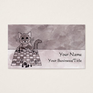 Cat Chess Business Card