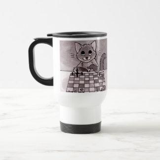 Cat Chess Travel Mug
