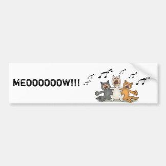 Cat Choir Bumper Sticker