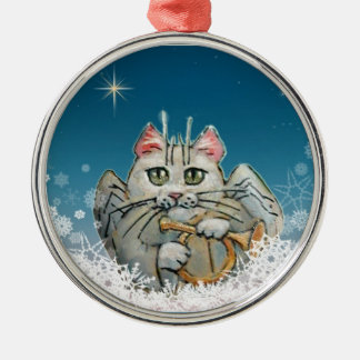 Cat Christmas Angel ornament