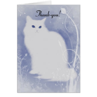 Cat Christmas Thank-You Card
