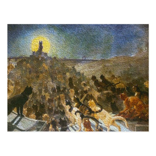 Cat City Postcard! Théophile Steinlen Vintage Art Postcard