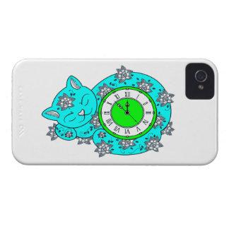 Cat Clock iPhone 4 Cases