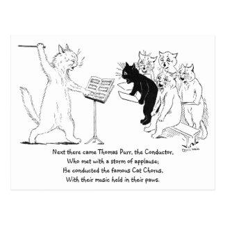 Cat Conducting Chorus Vintage Louis Wain Postcards