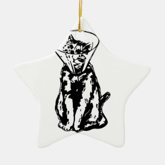 Cat Cone Ceramic Ornament