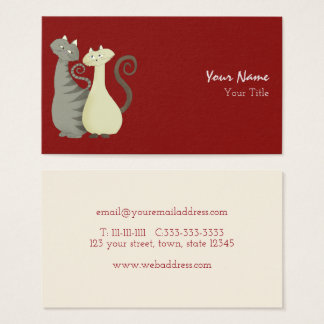 Cat Couple Marriage Consultant Love Advice Pets Business Card