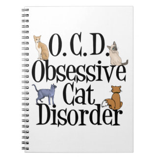 Cat Crazy Obsessed Notebooks