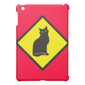 CAT crossing sign on yellow iPad Mini Cover
