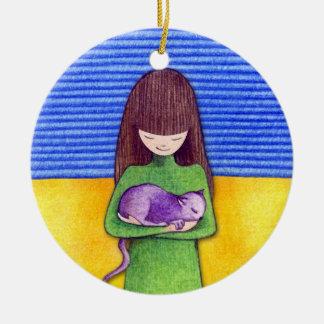 Cat Cuddle Ornament