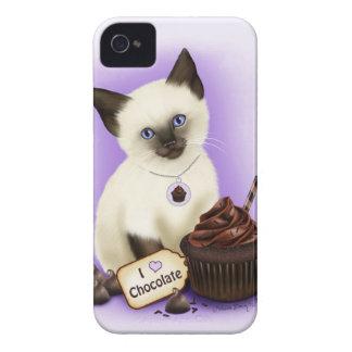 Cat Cupcake Chocolate Siamese iPhone 4 Case