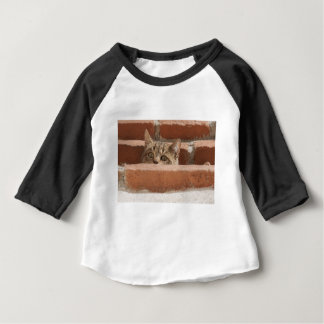 Cat Curious Young Cat Cat's Eyes Attention Wildcat Baby T-Shirt