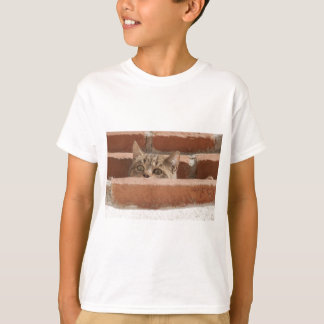 Cat Curious Young Cat Cat's Eyes Attention Wildcat T-Shirt