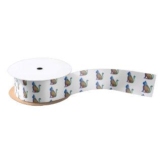 Cat Custom 1.5 in Wide Satin Ribbon, 2 Yard Spool Satin Ribbon