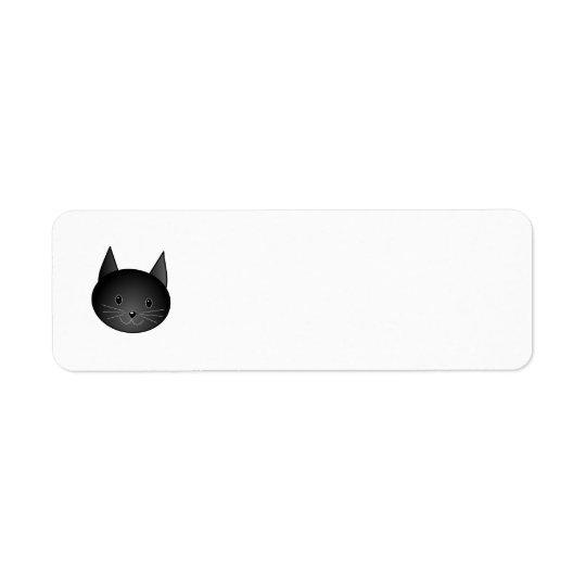 Cat. Cute black kitty. Return Address Label