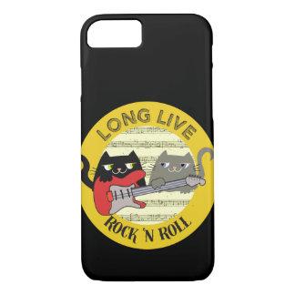 Cat Cute Punk Rock Music Love Electric Guitar Cool iPhone 8/7 Case