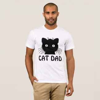 CAT DAD, BLACK CAT t-shirts