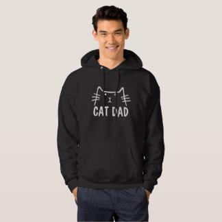 CAT DAD Black Mens T-shirts & hoodies