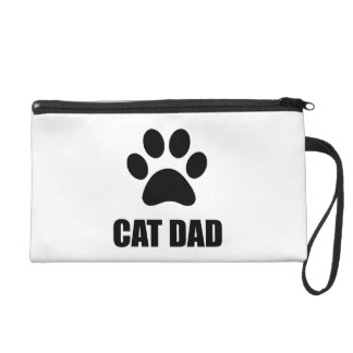 Cat Dad Paw Wristlet Clutches