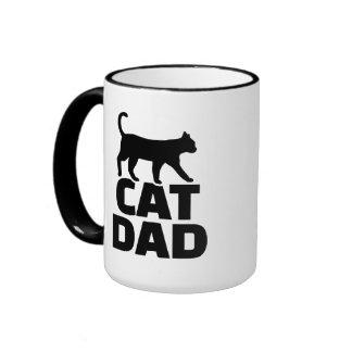 Cat dad ringer coffee mug