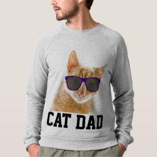 CAT DAD T-shirts, Funny Sunglasses Sweatshirt