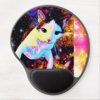 Cat Dance Kitty Colorful Cute Disco Gel Mouse Pad