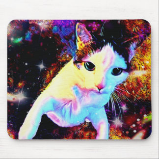 Cat Dance Kitty Colorful Cute Disco Mouse Pad