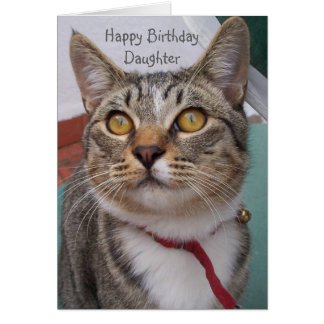 Cat Daughter Birthday Card