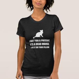 Cat Dead Mouse Pillow T-Shirt