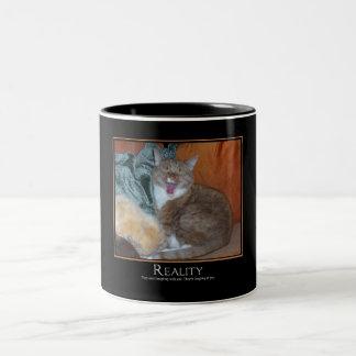 Cat Demotivator Two-Tone Coffee Mug