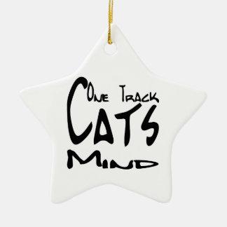 Cat Design for Cat Nuts Ceramic Star Ornament