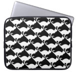 Cat design laptop sleeve | Black and white print