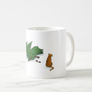 Cat destroys the Christmas Tree Cup