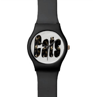 Cat Dimensional Logo, Ladies Black May Watch. Watch