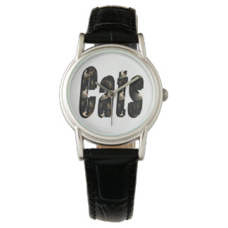 Cat Dimensional Logo, Ladies Leather Watch