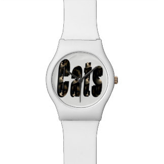 Cat Dimensional Logo, Ladies White May Watch. Watch