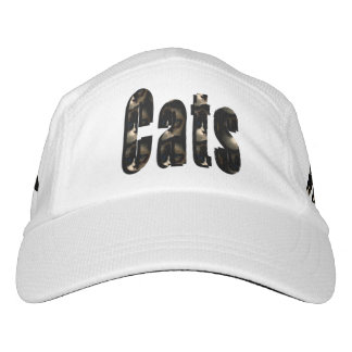 Cat Dimensional Logo, White Performance Cap
