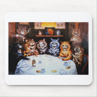 Cat Dinner Party Louis Wain Artwork Mouse Pad