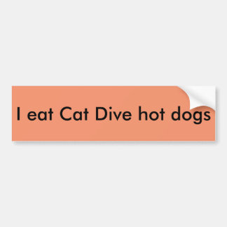 Cat Dive bumper sticker