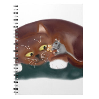 Cat, Do You want a Piece of Popcorn? Spiral Note Books