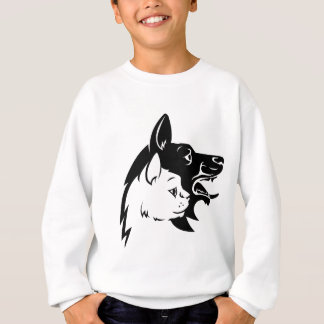 Cat Dog Pets Faces Concept Icon Sweatshirt