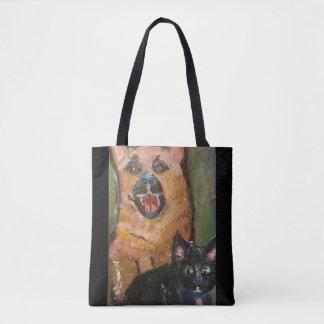 Cat Dog Tote Bag (Customizable)