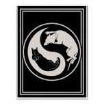 Cat-Dog Yin-Yang Poster