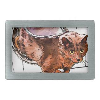 cat door rectangular belt buckles