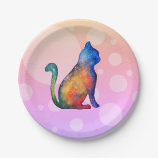Cat Dots Custom Paper Plates 7 in