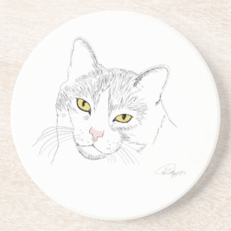 Cat Drawing Coaster