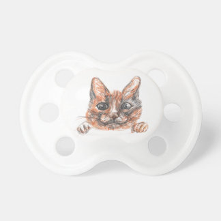 Cat drawing, cute kitten Pattern Pacifier