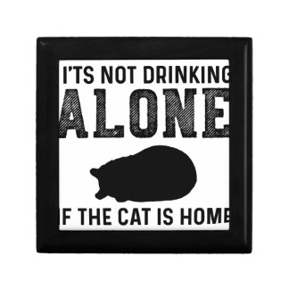 Cat - Drinking alone - Perfect gift for cat mom Gift Box