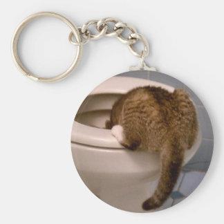 Cat Drinks Like a Dog KeyChain