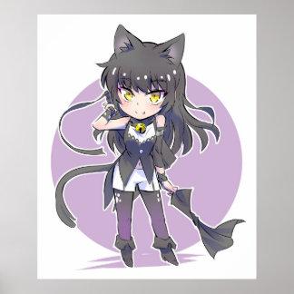 Cat Ears Chibi Blake Belladonna Poster