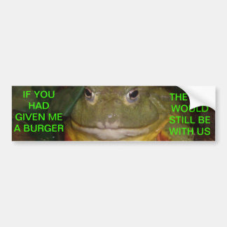 Cat Eating Frog Bumper Sticker